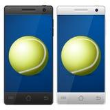 Smartphone tennis Stock Images