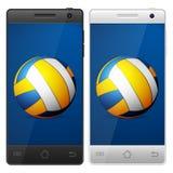 Smartphone volleyball Stock Photos