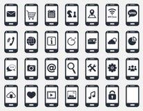 Smartphone symbolsuppsättning Royaltyfria Foton