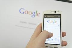 Smartphone sync Stock Image