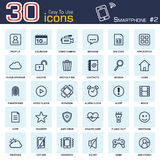 Smartphone system icon set 2 . outline style . Royalty Free Stock Images