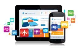 Smartphone-Tablet Apps Lizenzfreies Stockbild