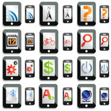 Smartphone and tablet computer icons Stock Images