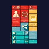 Smartphone of tablet grafisch gebruikersinterface binnen Stock Foto's