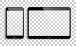 Smartphone, tablet mockup, transparent background Stock Images