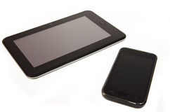 Smartphone with tablet Stock Photo
