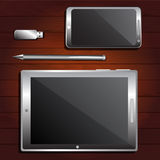 Smartphone, Tablet PC, USB flash drive Stock Image