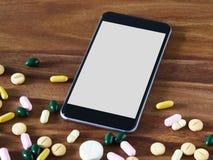 Smartphone tabletts, online-handel Royaltyfri Fotografi