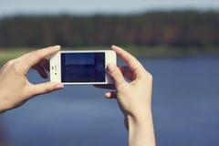 Smartphone take photos Stock Photos
