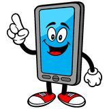 Smartphone Talking. A vector illustration of a Smartphone Talking Royalty Free Stock Photos