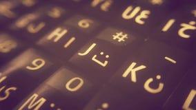 Smartphone tangentbord Arkivbild