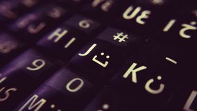 Smartphone tangentbord Royaltyfri Bild