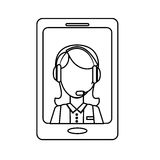 Smartphone technical services icon image Stock Photo