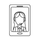 Smartphone technical services icon image Royalty Free Stock Photography