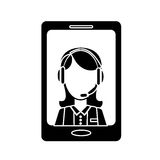 Smartphone technical services icon image Stock Photos