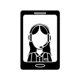 Smartphone technical services icon image Stock Images