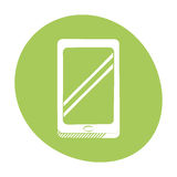 Smartphone technology communication icon color Royalty Free Stock Photography