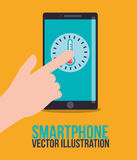 Smartphone technology graphic Stock Photo