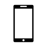 Smartphone technology line icon Royalty Free Stock Photography