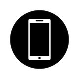 Smartphone technology line icon Stock Photos