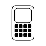 Smartphone technology line icon Stock Photography