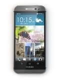 Smartphone, teléfono móvil en el fondo blanco Foto de archivo libre de regalías