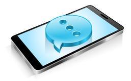 Smartphone, telefone celular, mensagem de texto, meio social, SMS Imagem de Stock