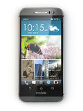 Smartphone, telefone celular no fundo branco Foto de Stock Royalty Free