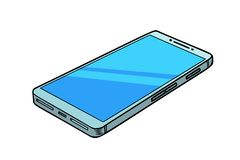 Smartphone telefonisolat på vit bakgrund vektor illustrationer