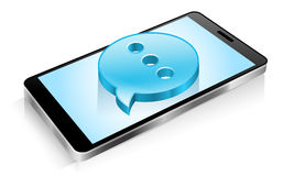 Smartphone, telefono cellulare, messaggio di testo, media sociali, SMS Immagine Stock