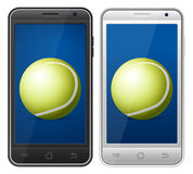 Smartphone tennis Royalty Free Stock Images