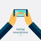 Smartphone testing Royalty Free Stock Photo