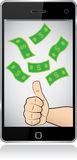 Smartphone thumb up success Royalty Free Stock Image