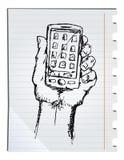 Smartphone tirado mão Imagem de Stock