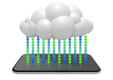 Smartphone To Cloud Data Sync royalty free illustration
