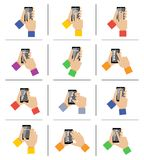 Smartphone touch gestures Royalty Free Stock Photos