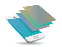 Smartphone touch screen Royalty Free Stock Image