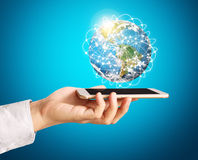 Smartphone touch screen social networking Stock Photography