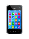 Smartphone Touchscreen HD - apps icons interface Stock Photos