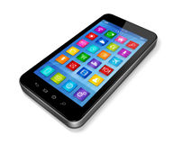 Smartphone Touchscreen HD - apps icons interface Royalty Free Stock Photos