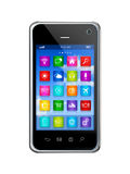 Smartphone Touchscreen HD - apps icons interface Stock Images