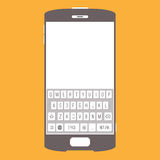 Smartphone Touchscreen Keypad. Vector backdrop or background of smartphone design with touchscreen keypad Royalty Free Stock Images