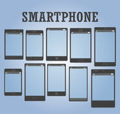 Smartphone tout le type paquet Photos libres de droits