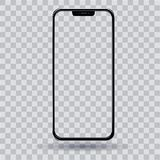 Smartphone with a transparent screen royalty free illustration