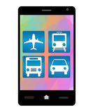 Smartphone Travel Icons Royalty Free Stock Image