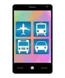 Smartphone Travel Icons royalty free illustration