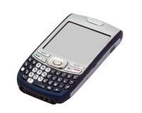 Smartphone trennte auf Weiß mit Ausschnitts-Pfaden Lizenzfreie Stockfotografie