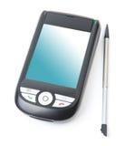 Smartphone trennte auf weißem Hintergrund Stockbild