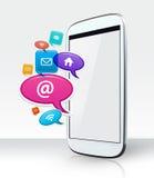 Smartphone und apps lizenzfreie stockfotografie