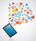 Smartphone und Kommunikationsikonen Lizenzfreie Stockfotos